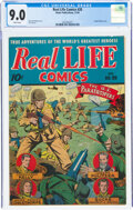 Golden Age (1938-1955):War, Real Life Comics #20 (Nedor Publications, 1944) CGC VF/NM 9.0 White pages....
