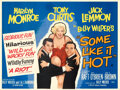"""Movie Posters:Comedy, Some Like It Hot (United Artists, 1959). Very Fine- on Linen. British Quad (30"""" X 40"""").. ..."""