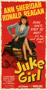 "Juke Girl (Warner Bros., 1942). Fine+ on Linen. Three Sheet (41"" X 78.5"")"