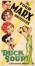Movie Posters:Comedy, Duck Soup (Paramount, 1933). Fine/Very Fine on Linen.