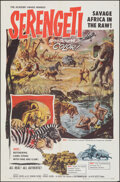 "Movie Posters:Documentary, Serengeti (Allied Artists, 1960). Folded, Very Fine. One Sheet (27"" X 41""). Documentary.. ..."
