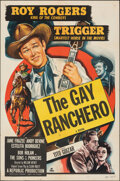 "Movie Posters:Western, The Gay Ranchero (Republic, R-1952). Folded, Fine/Very Fine. One Sheet (27"" X 41""). Western.. ..."