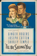 """Movie Posters:Drama, I'll Be Seeing You (United Artists, 1944). Folded, Fine. One Sheet (27"""" X 41""""). Drama.. ..."""