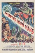 """Movie Posters:Science Fiction, Invaders from Mars (20th Century Fox, 1953). Folded, Fine+. One Sheet (27"""" X 41""""). Science Fiction.. ..."""