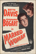 "Movie Posters:Crime, Marked Woman (Warner Bros., R-1947). Folded, Fine/Very Fine. One Sheet (27"" X 41""). Crime.. ..."