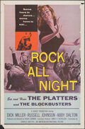 "Movie Posters:Rock and Roll, Rock All Night (American International, 1957). Folded, Fine+. One Sheet (27"" X 41""). Rock and Roll.. ..."