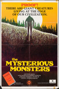 """Movie Posters:Documentary, The Mysterious Monsters (Sun Classic, 1975). Folded, Fine/Very Fine. One Sheet (27"""" X 41""""). Documentary.. ..."""