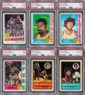 Basketball Cards:Sets, 1973 - 1979 Topps Basketball High-Grade Complete Sets (6). ...