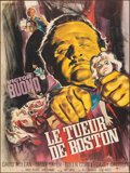 """Movie Posters:Horror, The Strangler & Other (Athos Films, 1965). Folded, Overall: Very Fine. French Grande (45.5"""" X 61"""") & Reproduction """"Ninth"""" Lo... (Total: 2 Items)"""