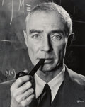 Photographs, Philippe Halsman (American, 1906-1979). Dr. J. Robert Oppenheimer, 1958. Gelatin silver, printed later. 20 x 16 inches (...