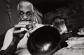 Photographs, Leonard Freed (American, 1929-2006). DeDe Pierce, Blind Jazz Musician, Playing his Trumpet in his Bedroom, New Orleans, Lo...