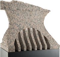 Jesús Bautista Moroles (American, 1950-2015) Untitled Granite 16 x 20 x 7 inches (40.6 x 50.8 x 1