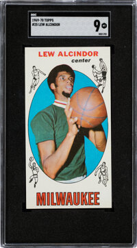1969 Topps Lew Alcindor #25 SGC Mint 9 - None Higher!