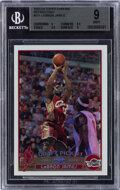 Basketball Cards:Singles (1980-Now), 2003-04 Topps Chrome LeBron James (Refractors) #111 BGS Mint 9....