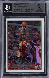 2003-04 Topps Chrome LeBron James (Refractors) #111 BGS Mint 9