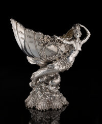 A Tiffany & Co. Silver Yachting Trophy: Goelet Cup, New York, 1893 Marks: TIFF