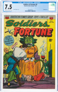 Golden Age (1938-1955):Adventure, Soldiers of Fortune #6 (ACG, 1952) CGC VF- 7.5 Cream to off-white pages....