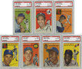 Baseball Cards:Sets, 1954 Topps Baseball Complete Set (250) plus Wrapper.Offered is a 1954 Topps complete set. This set features two Ted Williams...