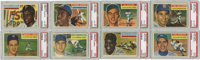 1956 Topps Complete Baseball Set (340), Plus Team Variations (12), Checklists (2) and Wrapper (1).Offered is a complete...