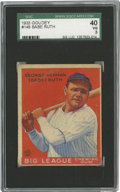 Baseball Cards:Singles (1930-1939), 1933 Goudey Babe Ruth #149 SGC 40 VG 3. The game's greatest starfrom the era's greatest set. It's imperfect centering and...