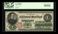 Large Size:Legal Tender Notes, Fr. 16 $1 1862 Legal Tender PCGS Choice About New 55PPQ....