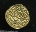 Egypt: , Egypt: Ahmed I gold Sultani 1012AH (1603) Misr, KM18, NP-357,superb XF-AU, fully lustrous, boldly struck and nicely centered.Cert...