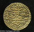 Egypt: , Egypt: Mustafa III gold Zeri Mahbub 1171/9 = 1179AH (1765), KM107,NP-625 (the same illustration.) Superb brilliant UNC, just a fab...