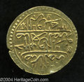 "Egypt: , Egypt: Ali Bey gold Zeri Mahbub 1171/83 = 1183AH (1769), KM119,bold XF, very clear ""Ali"" at the top of the obverse. This seriesfe..."