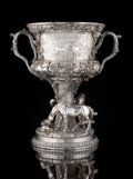 Silver & Vertu, A Gorham Mfg. Co. Silver Horse Racing Trophy: The Horseman Cup , Providence, Rhode Island, 1894. Marks: (lion-an...