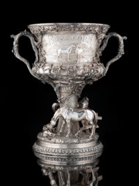 A Gorham Mfg. Co. Silver Horse Racing Trophy: The Horseman Cup , Providence, Rhode I