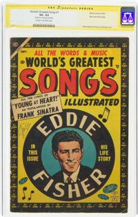 World's Greatest Songs #1 Stan lee File Copy - Signature Series (Atlas, 1954) CGC VG- 3.5 Cream to off-white pages