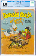 Golden Age (1938-1955):Cartoon Character, Four Color #9 Donald Duck (Dell, 1942) CGC FR 1.0 Cream to off-white pages....