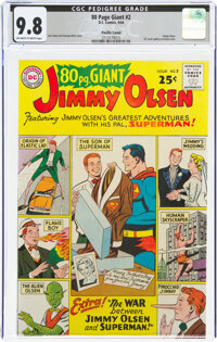 80 Page Giant #2 Jimmy Olsen - Pacific Coast Pedigree (DC, 1964) CGC NM/MT 9.8 Off-white to white pages
