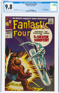 Fantastic Four #55 (Marvel, 1966) CGC NM/MT 9.8 Off-white to white pages