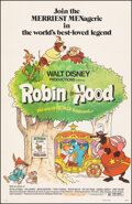 "Movie Posters:Animation, Robin Hood (Buena Vista, 1973). Very Fine on Linen. One Sheet (27"" X 41.5""). Animation.. ..."