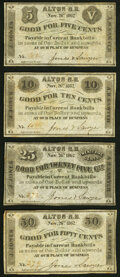 Obsoletes By State:New Hampshire, Alton, NH- Jones & Sawyer 5¢; 10¢; 25¢; 50¢ Nov. 26, 1862 Fine-Very Fine.. ... (Total: 4 notes)