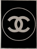 """Luxury Accessories:Home, Chanel Black & Gray CC Blanket. Condition: 2. 55"""" Width x 72"""" Height . ..."""