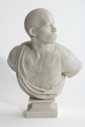 Sculpture, Kehinde Wiley (American, b. 1977). After La Négresse, 1872, 2006. Cast marble dust and resin. 11 x 10 x 9 inches (27.94 ...
