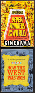 """Movie Posters:Documentary, Seven Wonders of the World & Other Lot (Cinerama Releasing, 1956). Fine/Very Fine. Program (24 Pages, 9"""" X 12"""") & Hardcover ... (Total: 2 Items)"""