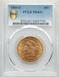 1884-S $10 MS62+ PCGS. PCGS Population: (119/14 and 6/0+). NGC Census: (59/3 and 0/0+). CDN: $1,115 Whsle. Bid for NGC/P...