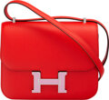 Luxury Accessories:Bags, Hermès 18cm Rouge de Coeur Epsom Leather Double Gusset Constance Cartable Bag with Palladium Hardware. Y, 2020. Condit...