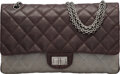 Luxury Accessories:Bags, Chanel Brown Quilted Caviar Leather & Gray Quilted Lambskin Leather 2.55 Reissue - 277 Double Flap Bag with Ruthenium Hardware...