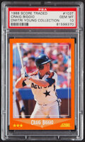 Baseball Cards:Singles (1970-Now), 1988 Score Traded Craig Biggio #103T PSA Gem Mint 10....