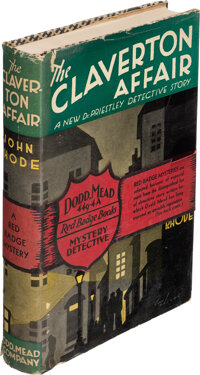 John Rhode. The Claverton Affair. New York: Dodd, Mead, and Company, 1933. First American editi