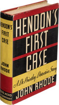 Books:Mystery & Detective Fiction, John Rhode. Hendon's First Case. New York: Dodd, Mead, and Company, [1935]. First American edition....