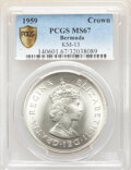 Bermuda:British Colony, Bermuda: British Colony. Elizabeth II Crown 1959 MS67 PCGS,...