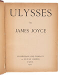 Books:Signed Editions, James Joyce. Ulysses. Paris: Shakespeare and Company, 1924. First edition, fourth printing. Inscribed by Joyce o...