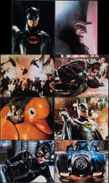 """Movie Posters:Action, Batman Returns (Warner Bros., 1992). Near Mint/Mint. Lobby Card Set of 8 (11"""" X 14"""") Special Collector's Edition with Origin... (Total: 9 Items)"""