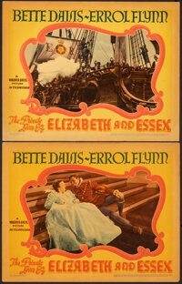 """The Private Lives of Elizabeth and Essex (Warner Bros., 1939). Very Fine-. Linen Finish Lobby Cards (2) (11"""" X 14&q..."""