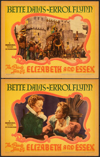 """The Private Lives of Elizabeth and Essex (Warner Bros., 1939). Very Fine+. Linen Finish Lobby Cards (2) (11"""" X 14&q..."""